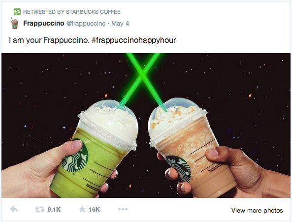 Starbucks Native Advertising Example